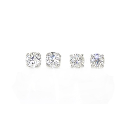 1.0cts and 0.78cts Diamond Studs