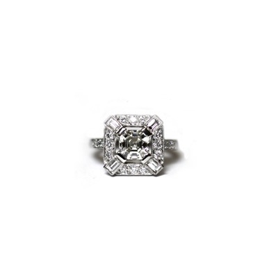 Asscher Cut Diamond 1.12ct