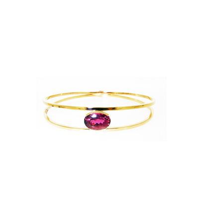 pink tourmaline bangle